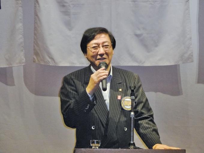 乾杯 川田直前会長