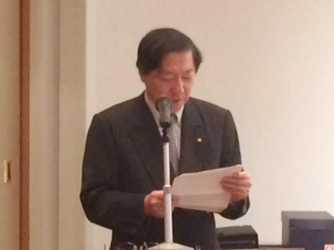 初代同好会川田会長 追悼の辞